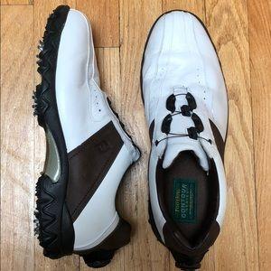 FootJoy Contour White Brwn Leather Golf Shoe